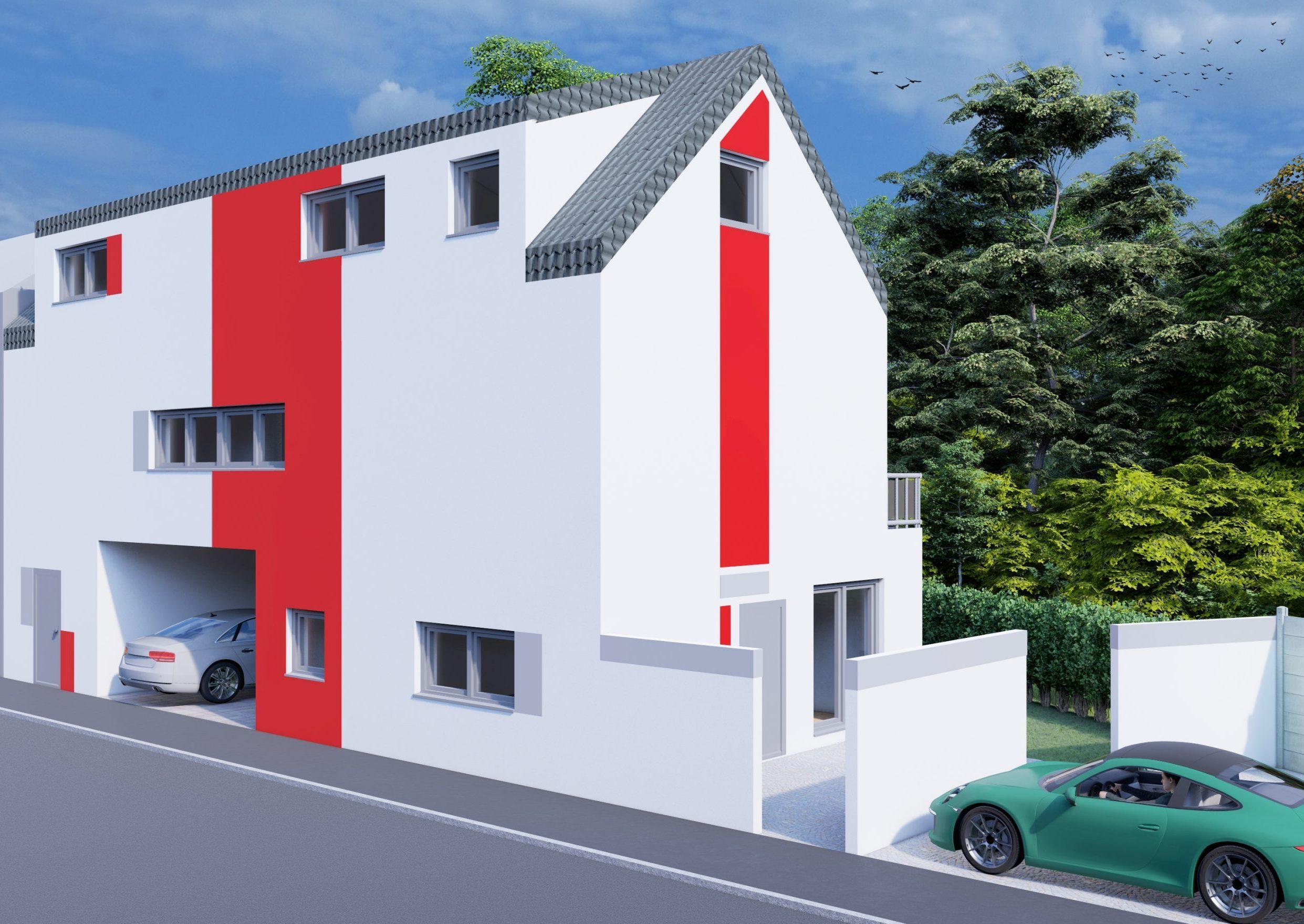 Einfamilienhaus Augsburg Oberhausen Schlüsselfertig Rohbau Baufirma Bauunternehmen Bauträger